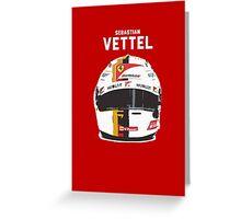 Sebastian Vettel - Ferrari Greeting Card