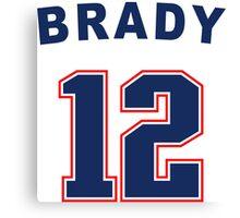 Tom Brady 12 Canvas Print