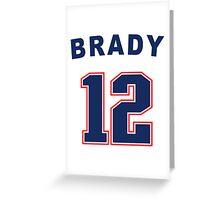 Tom Brady 12 Greeting Card