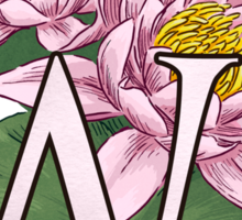 W is for Water Lily  Sticker