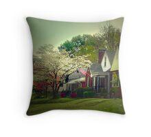Dogwood Neighborhood Throw Pillow