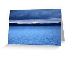 Storm Over Flathead Lake Greeting Card