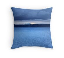 Storm Over Flathead Lake Throw Pillow