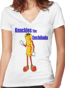 Knuckles the Enchilada Women's Fitted V-Neck T-Shirt
