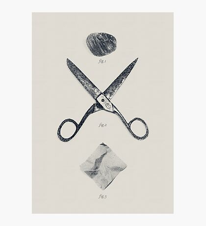 ROCK / SCISSORS / PAPER Photographic Print