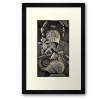 heraldic shield with double-headed eagle Framed Print