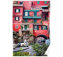 Amalfi Architecture Poster