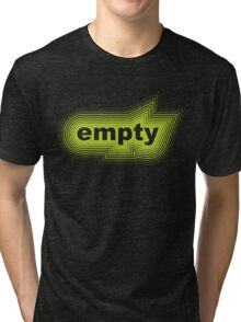lime green empty Tri-blend T-Shirt