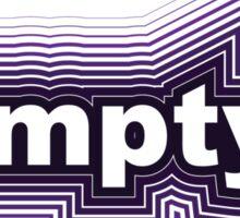 purple black empty Sticker