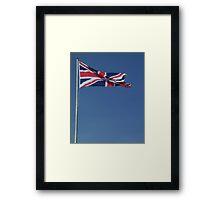 A portrait of a Union Jack Framed Print