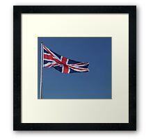 A landscape of a Union Jack Framed Print