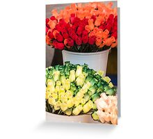 bouquet of handmade roses Greeting Card