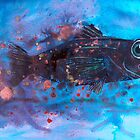 Fleeing fish by Jenny Wood