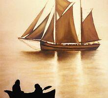 Boats In Sun Light by Janice Dunbar