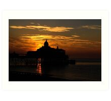 Eastbourne Pier at Dawn, East Sussex, UK Art Print