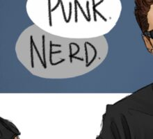 punk!steve nerd!bucky Sticker
