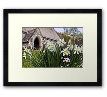 Spring In The Church Yard Framed Print