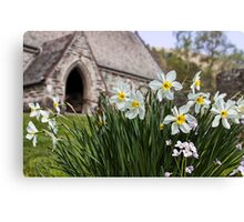 Spring In The Church Yard Canvas Print