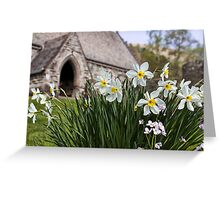 Spring In The Church Yard Greeting Card