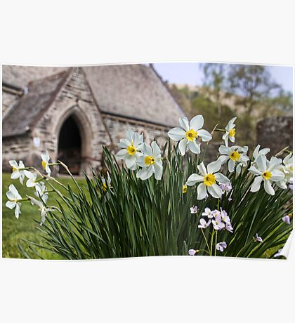 Spring In The Church Yard Poster