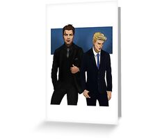 suit steve n bucky Greeting Card