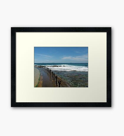 Newcastle Beach, NSW, Australia Framed Print