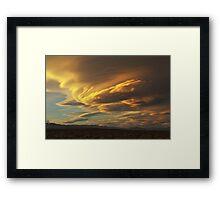 Golden Sierra Wave Framed Print
