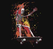 Skateboarding skeleton by Carol and Mike Werner