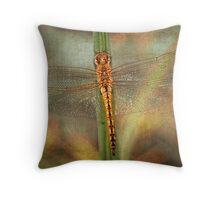 Golden Skimmer Throw Pillow