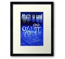 Math is Cool Framed Print