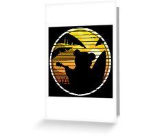 Good vibes music surf bear Greeting Card