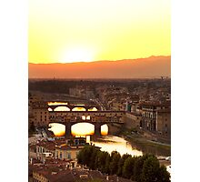 Sunset over the Arno Photographic Print