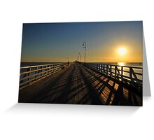 Sunrise at the Shorncliffe Jetty. Brisbane, Queensland, Australia. Greeting Card