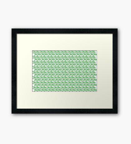 Jiu-Jitsu Green  Framed Print
