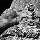 l'espressione del gigante sconfitto, Bosco Sacre di Bomarzo, Lazio, Italy by Andrew Jones