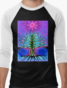 Electric Tree Men's Baseball ¾ T-Shirt
