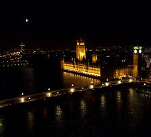 Parliament, Big Ben and the Thames by arteparada