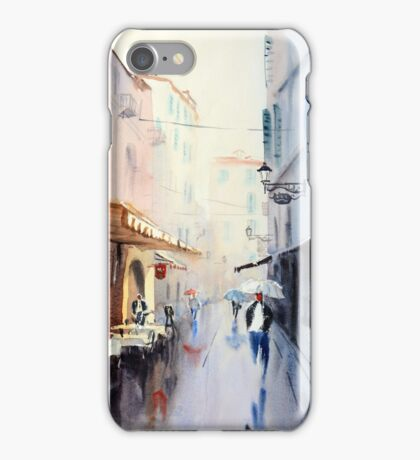 Taking Cover in San Remo, Italy iPhone Case/Skin
