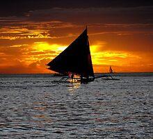 sunset - boracay, philippines by kenfarnaso