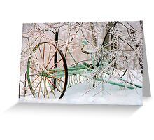Tiller in Snow Greeting Card