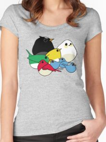 Not-so Angry Birds Women's Fitted Scoop T-Shirt