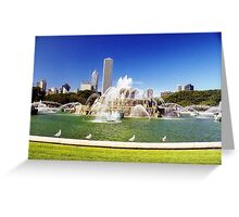 Birds Cool Off  Greeting Card