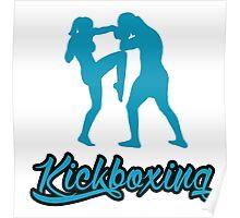 Kickboxing Female Knee Blue  Poster