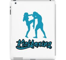 Kickboxing Female Knee Blue  iPad Case/Skin