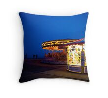 Carousel Craziness Throw Pillow