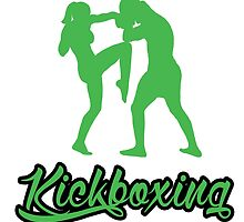 Kickboxing Female Knee Green  by yin888