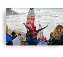 Joel Parkinson wins 2011 Rip Curl Pro at Bells Beach 2 Canvas Print