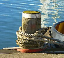 A Mooring Post...Southampton Marina, UK by Sharon Brown
