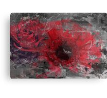 Abstract red flowers (rose and gerbera) Metal Print
