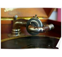 Old Phonograph Closeup Poster